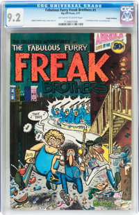 The Fabulous Furry Freak Brothers #1 First Printing - Haight-Ashbury pedigree (Rip Off Press, 1971) CGC NM- 9.2 Off-whit...
