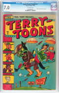 Golden Age (1938-1955):Funny Animal, Terry-Toons Comics #1 (Timely, 1942) CGC FN/VF 7.0 Off-whitepages....