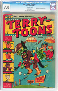 Terry-Toons Comics #1 (Timely, 1942) CGC FN/VF 7.0 Off-white pages