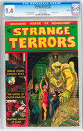 Golden Age (1938-1955):Horror, Strange Terrors #1 Spokane pedigree (St. John, 1952) CGC NM 9.4White pages....