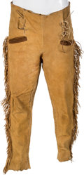 "Movie/TV Memorabilia:Costumes, A Clark Gable Pair of Fringed Period Pants from ""Across The Wide Missouri.""..."