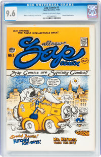 Zap Comix #1 First Printing - Plymell (Apex Novelties, 1968) CGC NM+ 9.6 Cream to off-white pages