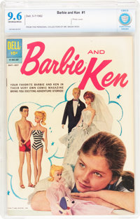 Barbie and Ken #1 (Dell, 1962) CBCS NM+ 9.6 Off-white to white pages