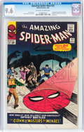Silver Age (1956-1969):Superhero, The Amazing Spider-Man #22 (Marvel, 1965) CGC NM+ 9.6 Off-white to white pages....