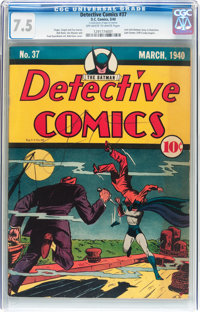 Detective Comics #37 (DC, 1940) CGC VF- 7.5 Off-white to white pages