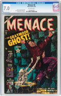 Golden Age (1938-1955):Horror, Menace #6 (Atlas, 1953) CGC FN/VF 7.0 Off-white pages....