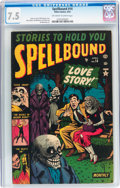 Golden Age (1938-1955):Horror, Spellbound #14 (Atlas, 1953) CGC VF- 7.5 Off-white to whitepages....