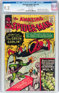 Silver Age (1956-1969):Superhero, The Amazing Spider-Man #14 (Marvel, 1964) CGC NM- 9.2 White pages....