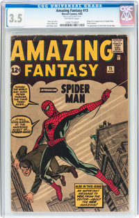 Amazing Fantasy #15 (Marvel, 1962) CGC VG- 3.5 Off-white pages
