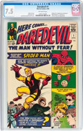Silver Age (1956-1969):Superhero, Daredevil #1 (Marvel, 1964) CGC VF- 7.5 Off-white pages....