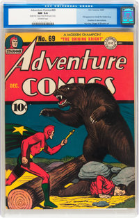 Adventure Comics #69 (DC, 1941) CGC NM 9.4 Off-white pages
