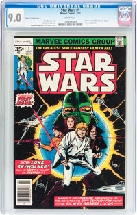 Star Wars #1 35¢ Variant (Marvel, 1977) CGC VF/NM 9.0 White pages