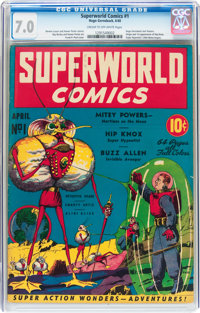 Superworld Comics #1 (Hugo Gernsback, 1940) CGC FN/VF 7.0 Cream to off-white pages