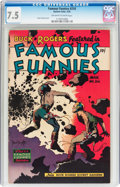 Golden Age (1938-1955):Science Fiction, Famous Funnies #216 (Eastern Color, 1955) CGC VF- 7.5 Off-white towhite pages....