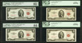 Small Size:Legal Tender Notes, $2 1953-53C Legal Tender Star Notes. . ... (Total: 4 notes)