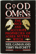 Books:Science Fiction & Fantasy, Neil Gaiman and Terry Pratchett. Good Omens. The Nice and Accurate Prophecies of Agnes Nutter Witch. New York: Workm...
