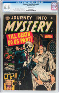 Golden Age (1938-1955):Horror, Journey Into Mystery #6 (Marvel, 1953) CGC FN+ 6.5 Off-whitepages....