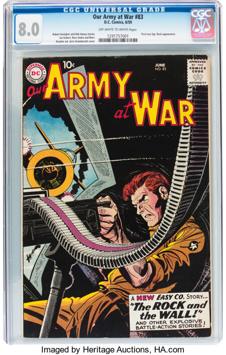 Our Army at War #83 (DC, 1959) CGC VF 8.0 Off-white to white pages....