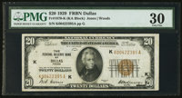 Fr. 1870-K $20 1929 Federal Reserve Bank Note. PMG Very Fine 30