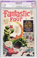 Silver Age (1956-1969):Superhero, Fantastic Four #1 (Marvel, 1961) CGC Apparent FN/VF 7.0 Moderate(P) Cream to off-white pages....