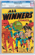 Golden Age (1938-1955):Superhero, All Winners Comics #1 (Timely, 1941) CGC FN+ 6.5 Off-white pages....