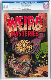 Weird Mysteries #5 (Gilmor, 1953) CGC VF 8.0 Cream to off-white pages