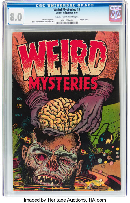 Weird Mysteries #5 (Gilmor, 1953) CGC VF 8.0 Cream to off-white pages....
