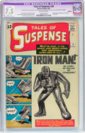 Silver Age (1956-1969):Superhero, Tales of Suspense #39 Trimmed (Marvel, 1963) CGC Apparent VF- 7.5Slight (C-1) Off-white pages....