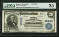 National Bank Notes:Wyoming, Casper, WY - $20 1902 Plain Back Fr. 657 The Wyoming NB Ch. # 10533. ...