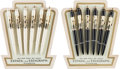 Music Memorabilia:Memorabilia, Beatles Vintage German Ballpoint Pens; Twelve on Two Original Display Cards (Germany, 1964). ...