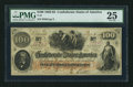 "Confederate Notes:1862 Issues, Manuscript Endorsement ""H.E. Loebnitz"" T41 $100 1862 PF-20 Cr.316A.. ..."