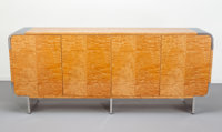 Leon Rosen (American, 20th Century) Credenza, circa 1970, Pace Collection Tamo wood veneer, polished