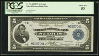 Fr. 796 $5 1918 Federal Reserve Bank Note PCGS About New 53