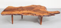 Furniture , George Nakashima (American, 1905-1990). Free-Edge Conoid Coffee Table, circa 1975. English walnut with East Indian rosew...