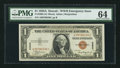 Fr. 2300 $1 1935A Hawaii Silver Certificate. PMG Choice Uncirculated 64