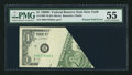 Error Notes:Foldovers, Fr. 1907-B $1 1969D Federal Reserve Note. PMG About Uncirculated55.. ...
