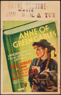 "Movie Posters:Drama, Anne of Green Gables (RKO, 1934). Window Card (14"" X 22""). Drama.. ..."