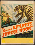 "Movie Posters:Adventure, Jungle Book (United Artists, 1942). Trimmed Window Card (14"" X18""). Adventure.. ..."