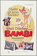 """Movie Posters:Animation, Bambi (Buena Vista, R-1982/R-1970s). One Sheet and Spanish Language One Sheet (27"""" X 41""""). Animation.. ... (Total: 2 Items)"""