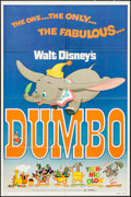 """Movie Posters:Animation, Dumbo (Buena Vista, R-1976). One Sheet (27"""" X 41""""). Animation.. ..."""