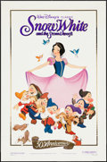 """Movie Posters:Animation, Snow White and the Seven Dwarfs (Buena Vista, R-1987). One Sheet(27"""" X 41"""") Gold Foil Style. Animation.. ..."""