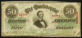 Confederate Notes:1863 Issues, T57 $50 1863 PF-12 Cr. 415.. ...