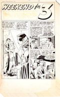 "Original Comic Art:Complete Story, Leonard Starr Young Romance #30 ""Weekend for 3"" Complete6-Page Story Original Art (Prize, 1951).... (Total: 6 Original Art)"