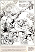 "Original Comic Art:Complete Story, John Calnan and Dick Giordano Batman #303 Complete 17-PageStory ""Batman's Great Identity Switch!"" Original Art (D... (Total:19 Items)"