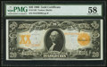 Large Size:Gold Certificates, Fr. 1186 $20 1906 Gold Certificate PMG Choice About Unc 58.. ...