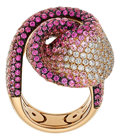 Estate Jewelry:Rings, Diamond, Pink Sapphire, Pink Gold Ring, Palmiero. ...