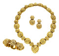 Estate Jewelry:Suites, Gold Jewelry Suite, David Webb. ...