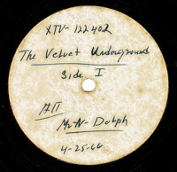 Velvet Underground Early US Version Of And Nico 1966 Acetate LP (XTV-122402, 1966)