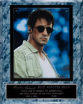 Movie/TV Memorabilia:Autographs and Signed Items, A Sylvester Stallone Signed Piece, 1994....
