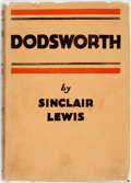 Books:Literature 1900-up, Sinclair Lewis. Dodsworth. New York: Harcourt, Brace andCompany, [1929]....